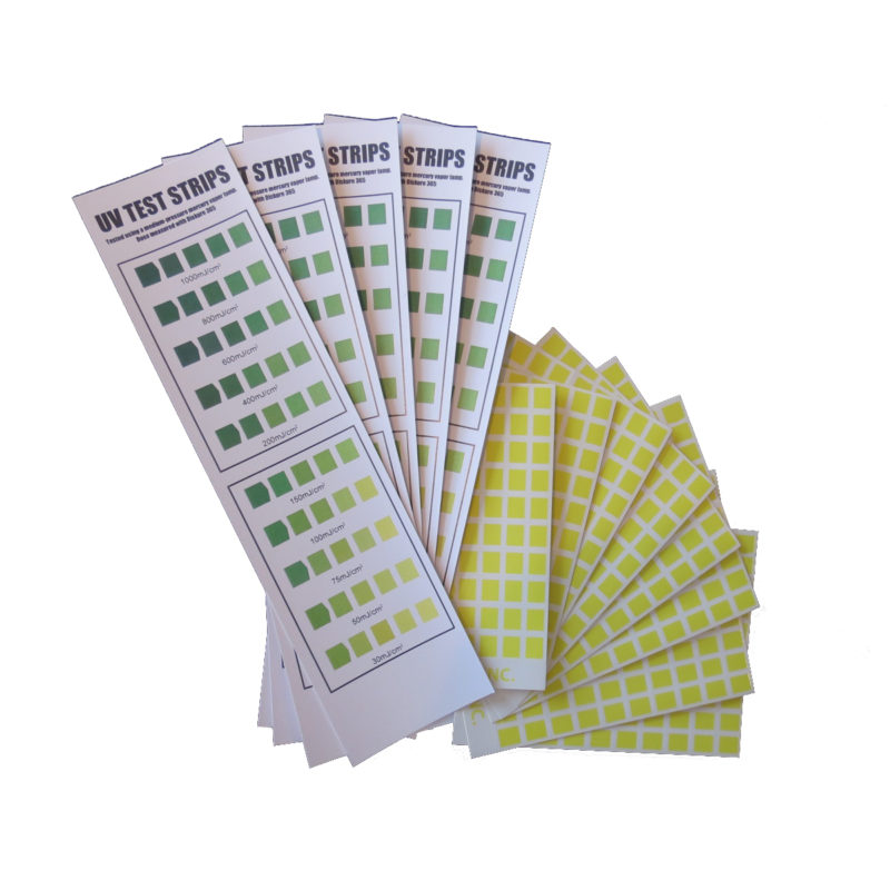 UV curing test strips from Alpha-Cure